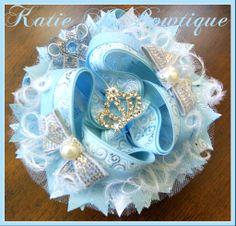 Sparkle Crown baby blue boutique bow www.facebook.com/katiejbowtique
