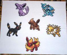 eevee evolution cross stitch (pattern on page 3) - NEEDLEWORK