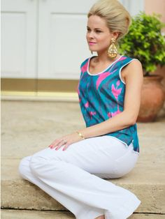 The Montauk Top by IKAT travel collection from Jules Reid
