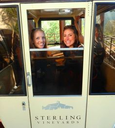 Kids of all ages enjoy the aerial cable car ride up to Sterling Vineyards near Calistoga in Napa Valley