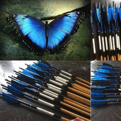 Medieval Traditional Archery Wooden Arrow For Recurve Longbow Bow Shoot with Blue Black Turkey Feather Ottoman Hunting Turkish Arrows Archery Bows, Archery Set, Archery Hunting, Archery Targets, Deer Hunting, Traditional Bow, Traditional Archery, Black Turkey, Bullet Types