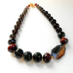 Laguna Agate Beaded Necklace in Gold Vermeil by AFFINITYCouture