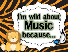 """""""WILD ABOUT MUSIC"""" - MARCH IS MUSIC IN OUR SCHOOLS MONTH - TeachersPayTeachers.com"""