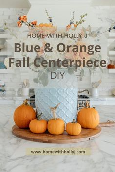 With Fall approaching I decided to create a blue and orange fall tablescapes this year. This would make an excellent Thankgiving tablescapes. Teal and orange are some of my favorite colors to combine together. This beautiful fall decor with a combanation of blue and orange is one of my favoite tablescapes so far. For more simple Fall tablescapes visit Home with Holly J. Blue Home Decor, Fall Home Decor, Fall Mantle Decor, Sunflower Centerpieces, Decorating Ideas, Decor Ideas, Thanksgiving Centerpieces, Holiday Tables, Colorful Decor