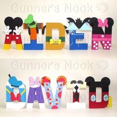 Mickey Mouse Letters Price Per Letter by GunnersNook on Etsy