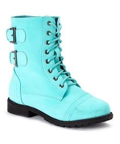 Another great find on #zulily! Mint Cozy Lace-Up Ankle Boot #zulilyfinds