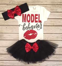 Baby Girl Clothes Behavior Bodysuit Model Behavior by BellaPiccoli