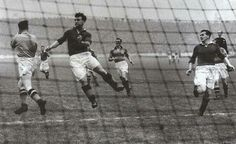 Rangers 3 Partick Th. 0 in Sept 1953 at Ibrox. Action from the Scottish Division 1 clash.