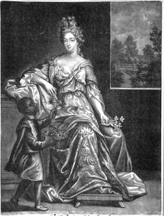 1702-10 Queen Anne by and published by Jacob Gole, after Unknown artist