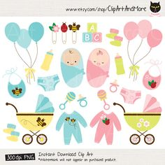 Baby Clipart Clip Art Baby Shower Boy Girl Product Clipart