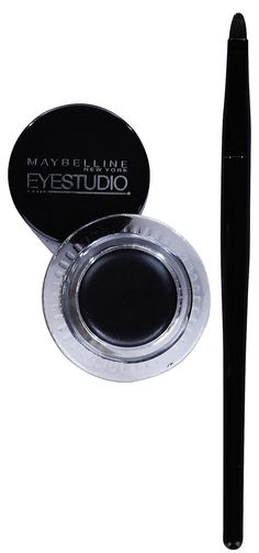 This Maybelline Eyestudio Lasting Drama Gel Liner is an exact dupe for Bobbi Brown's gel liner. It doesn't dry up, stays all day, and glides on so smooth All Things Beauty, Beauty Make Up, My Beauty, Makeup Brands, Drugstore Makeup, Makeup Products, Lipstick Dupes, Maybelline Gel Eyeliner, Maybelline Products