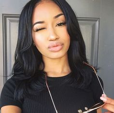 Human Hair Lace Wigs for Black Girls!Do you guys like this gorgeous hairstyles? Weave Hairstyles, Straight Hairstyles, Black Hairstyles, Gorgeous Hairstyles, Hair Inspo, Hair Inspiration, Pressed Natural Hair, Curly Hair Styles, Natural Hair Styles