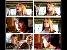 Fred and George are freaking out because they now know that their ship will float Harry Potter Magic, Harry Potter Fandom, Harry Potter Hogwarts, Lightning Scar, Harry And Ginny, The Chosen One, Cool Books, Mischief Managed, Just The Way