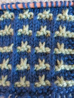 Example of pattern design for knit blanket