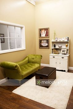 have a cozy yet stylish reception area in my studio space.