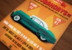 Cubandays Car Poster/Flyer IV by DigitavernShop on Creative Market