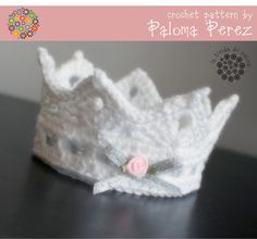 Crochet Baby Crown pattern, I want this for the hospital if i ever have a girl!