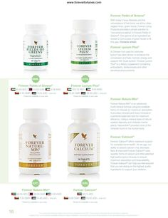 Forever Living life balance / nutrition a.Forever Fields of Greens b.Forever Lycium Plus c.Forever Nature-Min d.Forever Calcium Enquiries:  enquiry@foreverfortunes.com