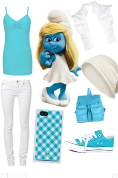 Smurfette inspired outfit, cute <3