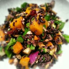 Black Rice and Roasted Squash Salad