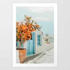 Greece Airbnb Wall Art Print by 83 Orangesa(r) Art Shop - X-Small Orange Art, Greece Travel, Framed Art Prints, Art Photography, Gallery Wall, Painting, Walls, Shop, Artworks