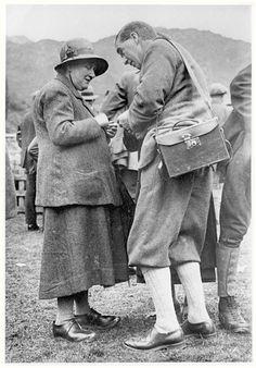 Beatrix Potter talking with Harry Lamb, Secretary of the Herdwick Sheep…