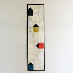 Home Sweet Home Block by Salty Oat, 2016 Row by Row Experience. Pattern at Pintuck & Purl. Small Quilts, Mini Quilts, Baby Quilts, House Quilt Block, House Quilts, Quilt Blocks, Patchwork Table Runner, Quilted Table Runners, Skinny Quilts