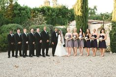 Decorgreat: Our Wedding; Love the different shades of bridesmaid dresses!