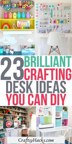 Diy Crafts Desk, Craft Desk, Craft Room Storage, Diy Desk, Craft Rooms, Space Crafts, Craft Organization, Storage Ideas, Diy And Crafts