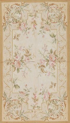 3' x 5' Hand Woven Reproduction Wool French Aubusson Weave Rug Free Shipping | eBay