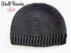 Adult Beanie for Man or Woman - Free Crochet Pattern - Stitch11