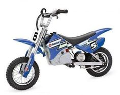 Let your kids live out their motocross dreams on this electric dirt bike. The USA Dirt Rocket Electric Razor Dirt Bike is a scaled down electric motocross bike that is eco friendly and ideal for younger riders. Dirt Bikes For Sale, Dirt Bikes For Kids, Cool Dirt Bikes, Small Dirt Bikes, Motorcycle Dirt Bike, Motocross Bikes, Dirt Biking, Scooter Bike, Kids Scooter
