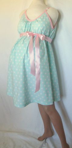 Maternity Hospital Gown, delivery nursing gown. $52.00, via Etsy. HOW CUTE!!!!!!
