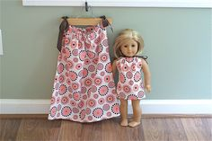 e2c5479641 Matching American Girl Pillow Case Dresses for Girl and Doll. SALE 20% OFF.  Polka Dot Circles. Size 3T