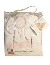 4 Piece Pink Flower Baby Bath Set