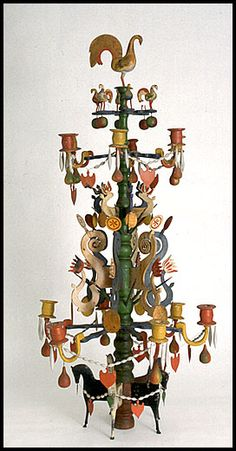 "Swedish wooden Christmas tree, also called something similar to ""The tree of Odin"""