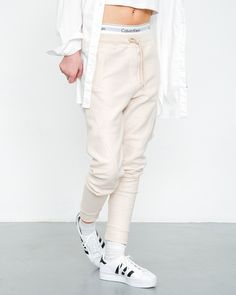 sports shoes b7ffe afd16 Comfy joggers by 2nd One worn with Calvin Klein undies and adidas  Superstar. Adidas Superstar