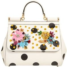 Dolce & Gabbana Women Medium Sicily Embellished Leather Bag