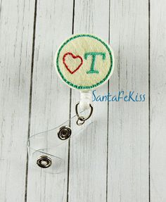 Occupational Therapist Badge Holder with Retractable Badge Reel. A ID Badge Holder for yourself or for your favorite nurse, coworker - pinned by pin4etsy.com