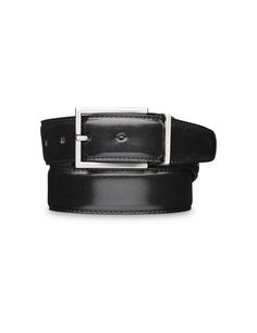 GIANLUCA belt - Men's belt in Italian leather. Features metal buckle and loop with brushed silver finish with Tiger of Sweden logo. Width: 3.5 cm.