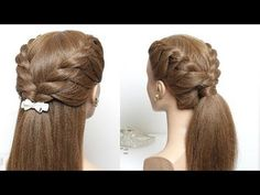 2 Cute And Easy Hairstyle For Long Hair Tutorial. - YouTube