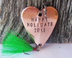Personalized Christmas Gift Fishing Happy by CandTCustomLures, $18.00