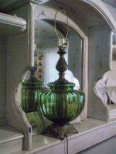 Beautiful 1970s Green Dome Table Lamp by UmanThings on Etsy, $45.00