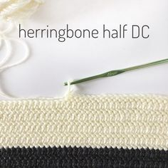 Learn how to crochet the Herringbone Half Double Crochet Stitch! A beautiful ., Learn how to crochet the Herringbone Half Double Crochet Stitch! A nice and simple stitch for baby blankets! I used this stitch to make my Crochet Hud. Crochet Diy, Learn To Crochet, Crochet Crafts, Crochet Projects, Crochet Tutorials, Diy Projects, Crochet Stitches Patterns, Knitting Patterns, Crochet Baby Blanket Patterns