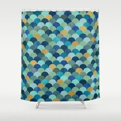 #society6 #home #bathroom #showercurtain #blue #gold