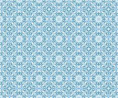 Seamless Blue Ornament Vector Pattern  |  Vecteezy.com