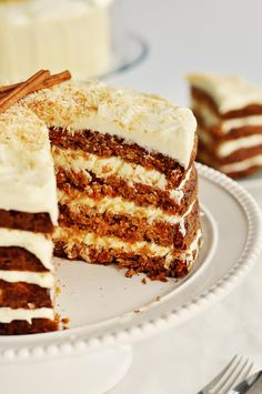 version of carrot cake with coconut frosting.