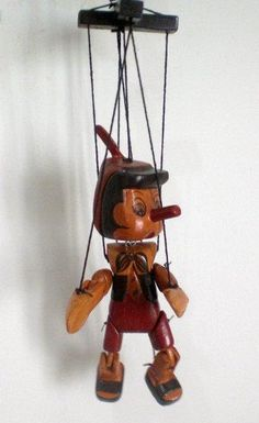 Wood  Vintage Pinocchio Marionette / Puppet 15 cm. $15.00, via Etsy.