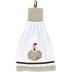 Bate mão patchwork bordado galinha