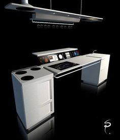 Futuristic Kitchen Concept Design by Sebastien Poupeau